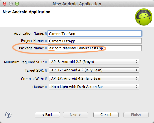 Debug your Android ANE - Eclipse Project settings