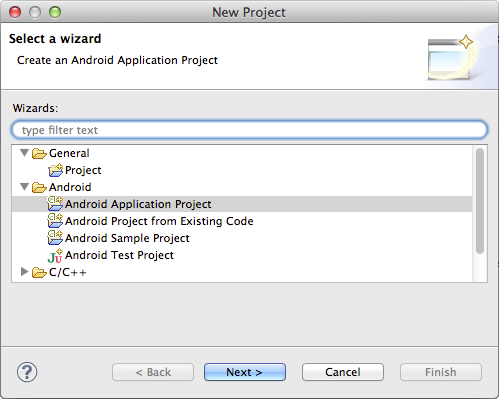 Debug your Android ANE - create Eclipse project